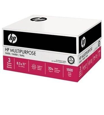 Hp Multi-purpose Paper Print Faxcopy Paper Letter 20lb 96-bright 1500ct