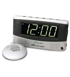 Sonic Alert Sonic Boom SA-SBR350SS Sonic Boom Alarm with Bed Shaker & FM Radio