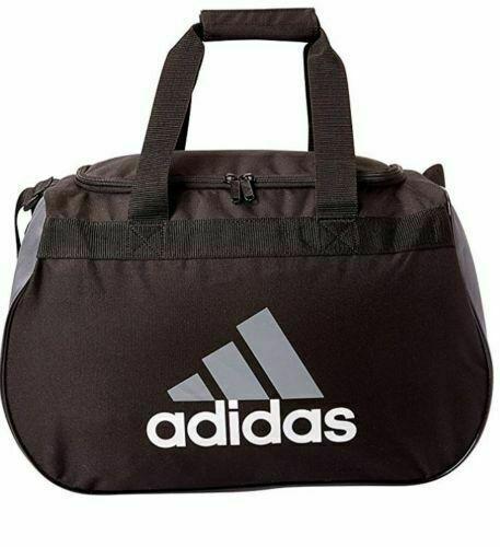 Adidas Diablo Duffel Bag BLACK WHITE LOGO ZIP TOP Fits Gym L
