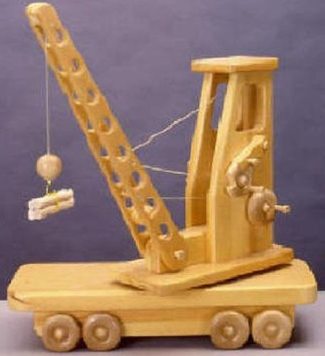 Detailed Toy Crane Woodworking Blueprint Plan
