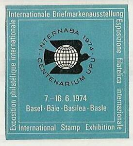 Switzerland - label 1974 Philately Basel - <span itemprop='availableAtOrFrom'>Bystra Slaska, Polska</span> - Switzerland - label 1974 Philately Basel - Bystra Slaska, Polska