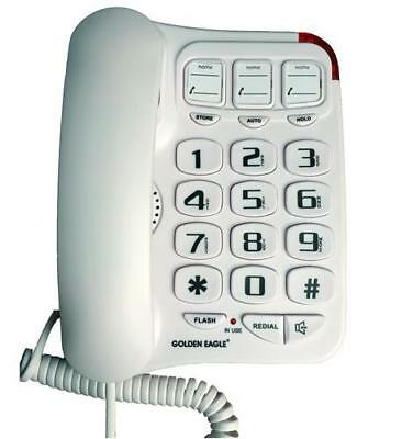 Golden Eagle Gee3104wh Big Button Phone With Speakerphone White - Cheap Gold Chargers