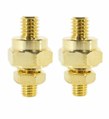 2x Short GM Side Post Adapter Battery Terminal Mid Series 24K Gold Plated R4SP Gold Series Battery Terminals