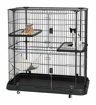Prevue Dog Bed - Prevue Pet Products 7501 Deluxe Cat Home With 3 Levels Black Spy1001145130 UPC 0