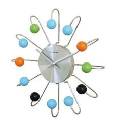 Telechron Atomic Ball Wall Clock - Multi/Silver
