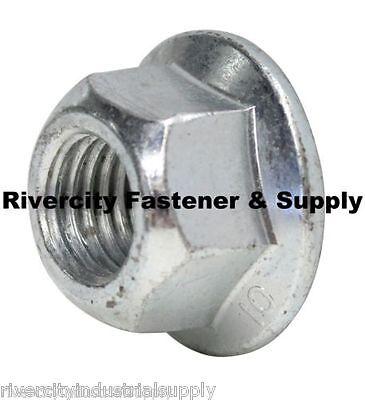 (5) M14-2.0 Metric Hex Flange All Metal Lock Nut Class 10 DIN 6927 Zinc (2.0 Hex Nut)