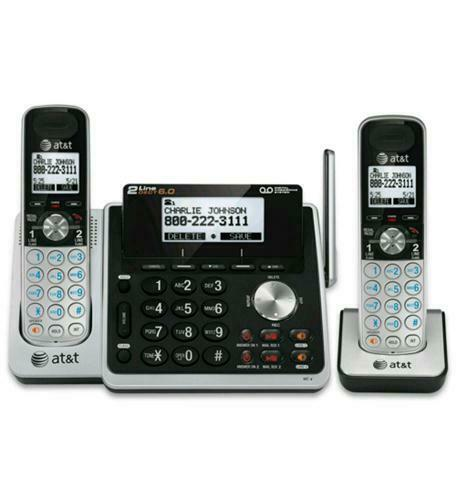 AT&T 2-Line Home/Office Answering System w/2 Cordless Phones