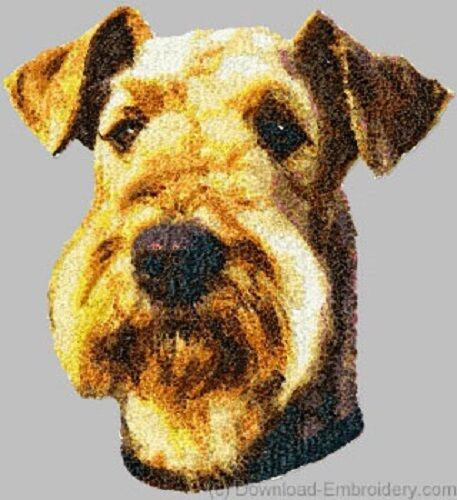 Embroidered Short-Sleeved T-shirt - Airedale Terrier DLE1457 Sizes S - XXL