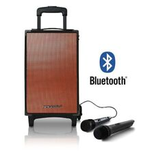 Battery Powered Portable Stereo Ghetto Speaker with Bluetooth USB With Trolly