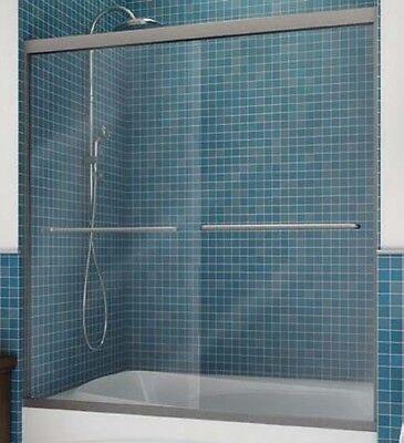 MAAX® Frameless By-Pass Shower Door Clear Glass 57-3/8H x 55 To 59