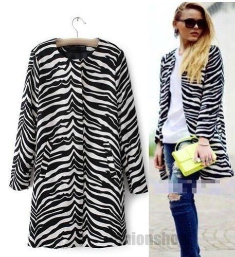 Zebra Coat Ebay