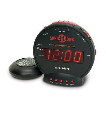 New Sonic Bomb SA-SBB500SS Dual Alarm Clock with Super Bed Shaker