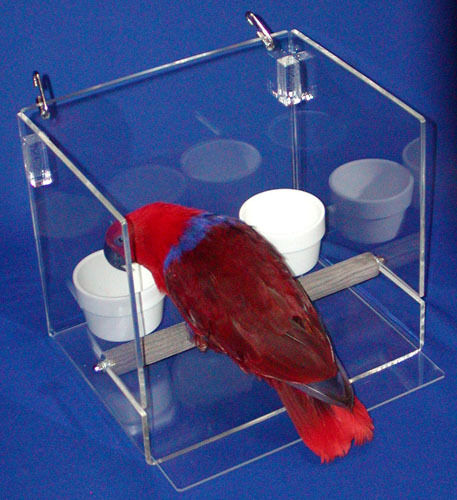 Less-mess Feeder Sets-tall For Cage/table Parrot/ Bird