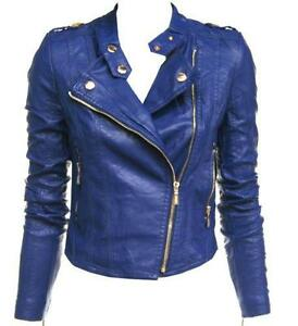 Blue Leather Jacket | eBay