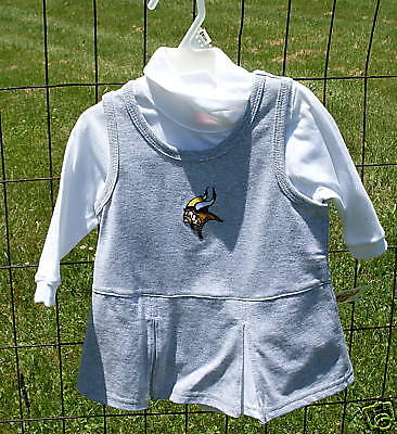 Minnesota VIKINGS Cheerleader Outfit Infant NWT 6/9m Gray NEW