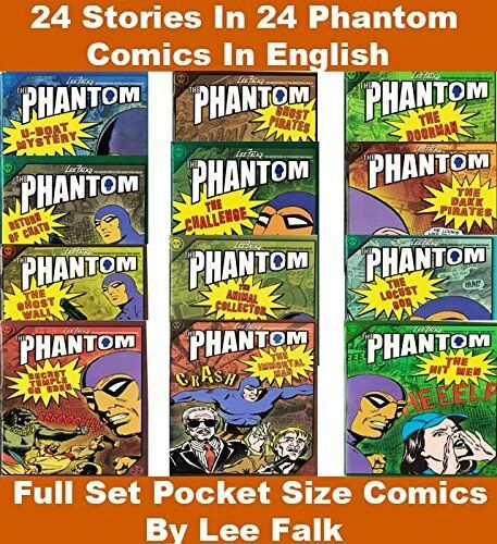 Phantom Comics Series: Collection of 24 Comics 24 Stories By Lee Falk