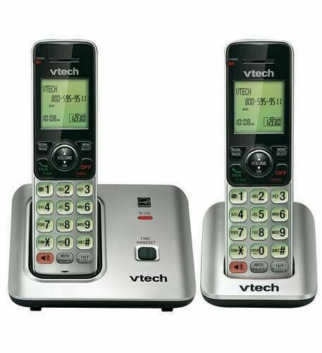 Vtech DECT 6.0 Plus Cordless 2 Handset Amplified Home Phone Set CS6619-2