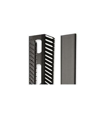 """Icc 35"""" Vertical Slotted Finger Ducts Single Sided - Cable Duct - Black -"""
