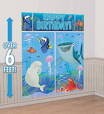 Fishing Birthday Party (FINDING DORY Scene Setter HAPPY BIRTHDAY party wall decoration NEMO fish)