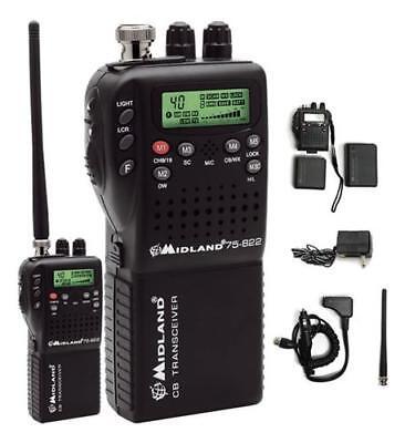 Midland 75-822 Handheld Portable Mobile CB Radio Hybrid 75-820 NOAA Weather NEW