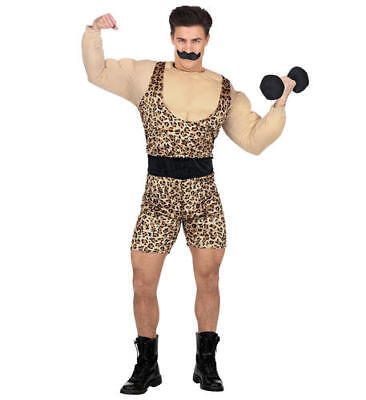 Mens Male Strong Man Circus Adult Fancy Dress Costume Outfit M/L