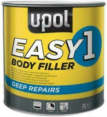 U-Pol Easy 1 Body Filler Deep Fill Car Body Filler Big Smooth Easy Sand 3L Upol