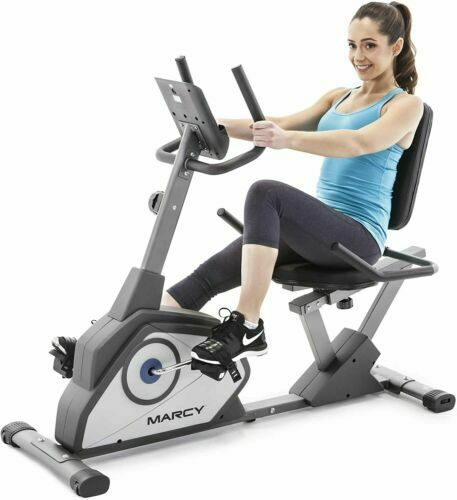 New Marcy Recumbent Magnetic Exercise Bike NS-40502R