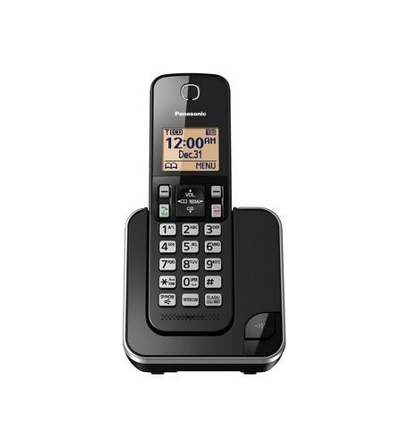 Panasonic Black Expandable Cordless Phone With 1 Handsets