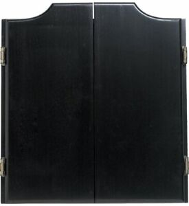 Outlaw Stained Wooden Dart Board Cabinet, Midnight