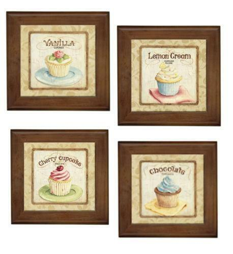 Cupcake wall decor ebay for Cupcake wall art
