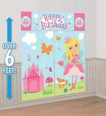WOODLAND FAIRY Scene Setter BIRTHDAY PARTY wall decoration castle princess - Woodland Fairy Party