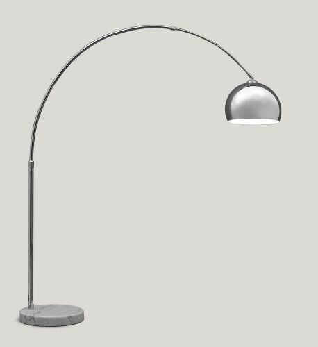 Large chrome floor lamp with marble base from made in north london large chrome floor lamp with marble base from made aloadofball Choice Image