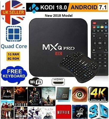 MXQ Pro TV BOX Newest 4K Movies Kodi 18.0 S905W Android 7.1 1G+8G Wifi Keyboard