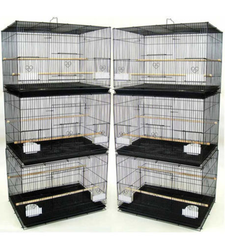 "Lot of 6 Aviary Canary Budgies Parakeet Breeding Flight Bird Cages 24x16x16""H"
