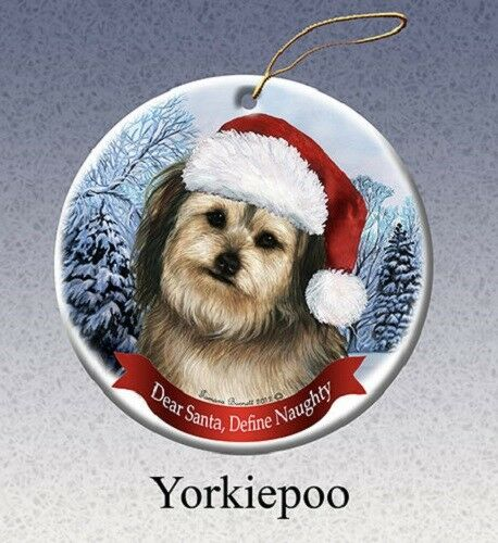 Define Naughty Ornament - Yorkiepoo 290