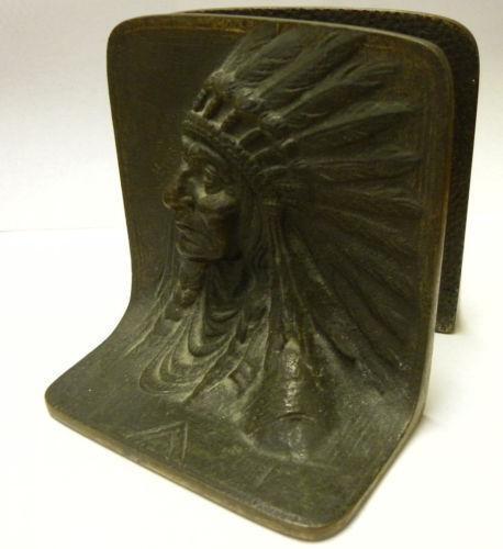 Antique bronze bookends ebay - Antique brass bookends ...