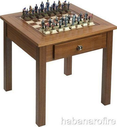 Wood chess table ebay - Wooden chess tables ...