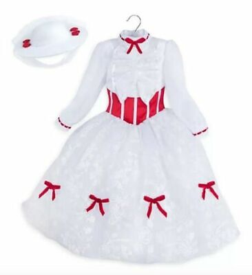 Mary Poppins Costume For Girl (New Disney Store Girls Mary Poppins Halloween Dress up Costume White)