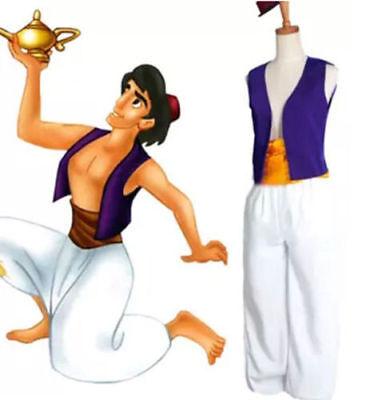 Aladdin prinz Cosplay Anzüge Männer/Herren Kostüme Junge Kleidung Mantel Uniform