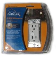 Intermatic HA01-C Home Settings Z-wave Wall Receptacle/Outlet