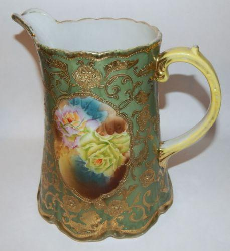 Hand Painted Nippon Pitcher Ebay