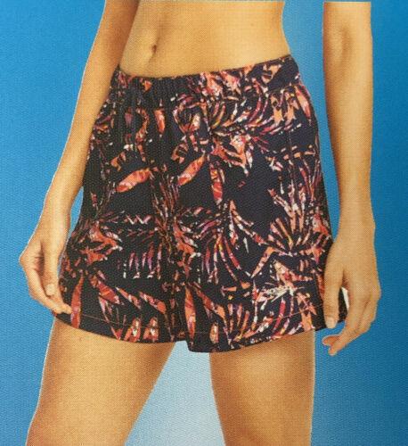 Speedo Woven Shorts 50+UPF Womens Swim Shorts- Navy Palm Pri