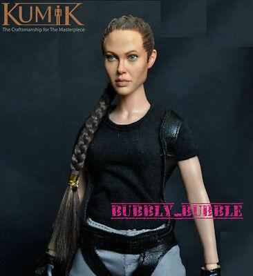 Kumik Angelina Jolie Lara Croft 1 6 Head Sculpt For Hot Toy Phicen Ship From Usa