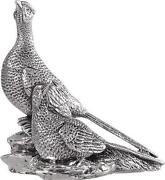Silver Bird Figurine