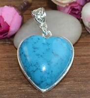 925 Sterling silver necklace with tibet silver heart pendant