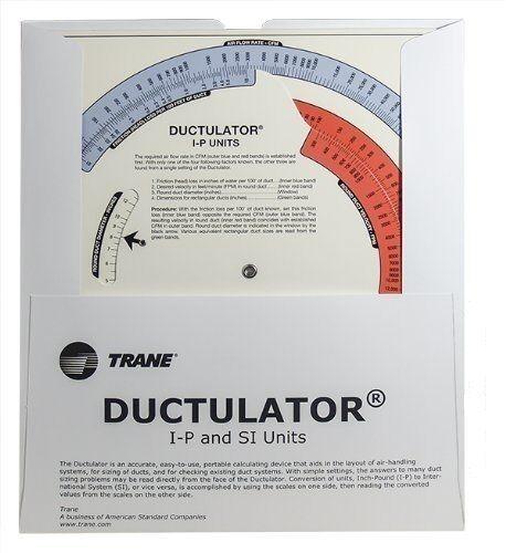 Trane Ductulator Duct Sizing Calculator | Shopping Bin - Search eBay faster