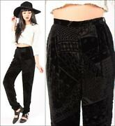 High Waisted Velvet Pants