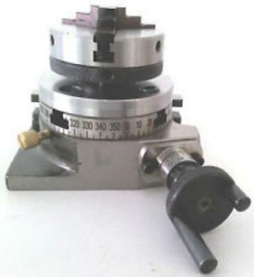 Rotary Table 3 Inch 80 Mm 4 Slot With 50 Mm Mini Lathe Chuck For Milling Machine
