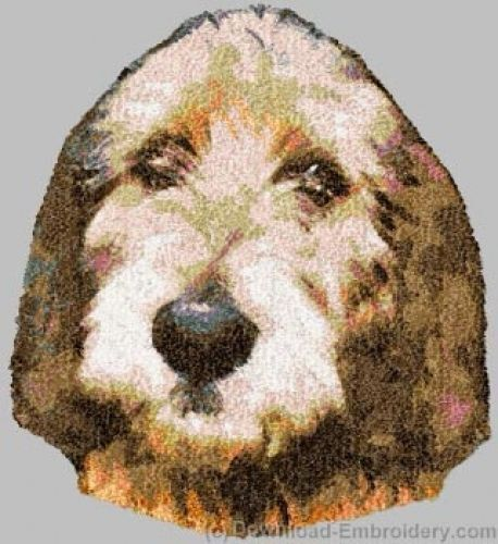 Embroidered Short-Sleeved T-shirt - Otterhound DLE2497 Sizes S - XXL