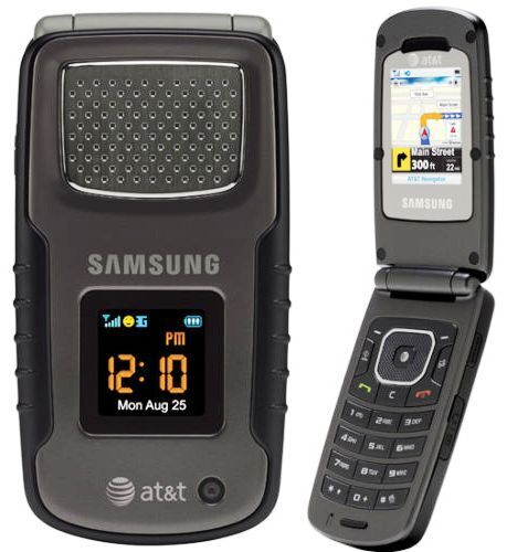 """Samsung Rugby SGH-A837 - Black  (AT&T) """"UNLOCKED"""" Cellular Phone"""